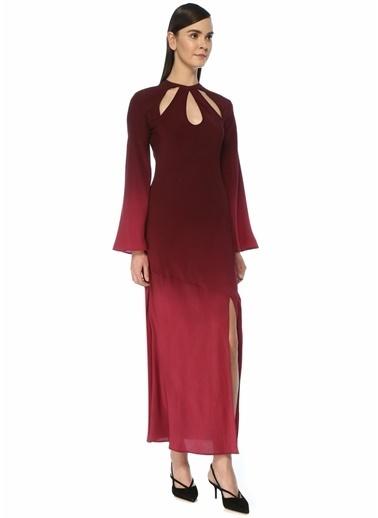 Rixo Rixo Kaia  Degrade Kesim Detaylı Maksi İpek Elbise 101499169 Pembe